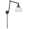 This item: Fulton Oiled Rubbed Bronze 30-Inch LED Swing Arm Wall Sconce with Clear Sphere Glass