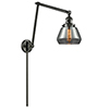 This item: Fulton Oiled Rubbed Bronze 30-Inch One-Light Swing Arm Wall Sconce with Smoked Sphere Glass