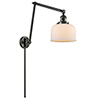 This item: Large Bell Oiled Rubbed Bronze 30-Inch One-Light Swing Arm Wall Sconce with Matte White Cased Dome Glass