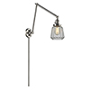 This item: Chatham Brushed Satin Nickel 30-Inch One-Light Swing Arm Wall Sconce with Clear Fluted Novelty Glass