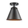 This item: Nouveau Oil Rubbed Bronze Eight-Inch One-Light Semi-Flush Mount