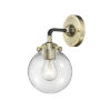 This item: Beacon Black Antique Brass LED Wall Sconce with Clear Glass