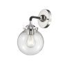 This item: Beacon Black Polished Nickel One-Light Wall Sconce with Clear Glass