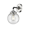 This item: Baldwin Black Polished Nickel LED Wall Sconce with Clear Globe Glass