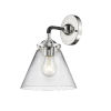 This item: Nouveau Black Polished Nickel One-Light Wall Sconce