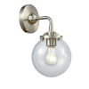 This item: Beacon Brushed Satin Nickel One-Light Wall Sconce with Clear Glass