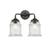 This item: Nouveau Oil Rubbed Bronze 14-Inch Two-Light LED Bath Vanity with Seedy Glass Shade