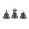 This item: Nouveau Black Antique Brass Three-Light LED Bath Vanity