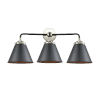 This item: Nouveau Matte Black Polished Nickel Three-Light Bath Vanity