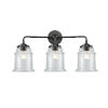 This item: Nouveau Oil Rubbed Bronze 24-Inch Three-Light LED Bath Vanity with Clear Canton Shade