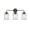 This item: Nouveau Oil Rubbed Bronze 24-Inch Three-Light Bath Vanity with Seedy Glass Shade