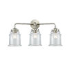 This item: Nouveau Brushed Satin Nickel 24-Inch Three-Light Bath Vanity with Clear Canton Shade