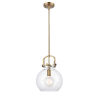 This item: Newton Brushed Brass 13-Inch One-Light Pendant