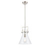 This item: Newton Brushed Satin Nickel 14-Inch One-Light Pendant with Clear Cone Glass