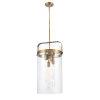 This item: Pilaster Brushed Brass Four-Light LED Pendant