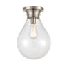 This item: Genesis Satin Nickel 10-Inch One-Light Flush Mount with Clear Glass Shade