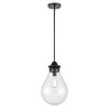 This item: Genesis Matte Black 10-Inch LED Pendant with Seedy Glass Shade