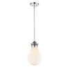 This item: Genesis Polished Chrome Eight-Inch One-Light Mini Pendant with White Glass Shade