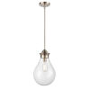 This item: Genesis Satin Nickel 10-Inch LED Pendant with Clear Glass Shade