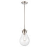 This item: Genesis Satin Nickel Eight-Inch One-Light Mini Pendant with Clear Glass Shade