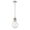 This item: Genesis Satin Nickel Eight-Inch LED Mini Pendant with Seedy Glass Shade