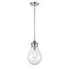 This item: Genesis Satin Nickel Eight-Inch One-Light Mini Pendant with Seedy Glass Shade