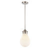 This item: Genesis Satin Nickel Eight-Inch LED Mini Pendant with White Glass Shade