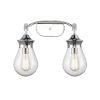 This item: Genesis Polished Chrome 18-Inch Two-Light Bath Vanity with Seedy Glass Shade