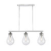 This item: Genesis Polished Chrome 39-Inch Three-Light LED Island Chandelier with Seedy Glass Shade