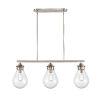 This item: Genesis Satin Nickel 39-Inch Three-Light LED Island Chandelier with Seedy Glass Shade