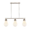This item: Genesis Satin Nickel 39-Inch Three-Light LED Island Chandelier with White Glass Shade