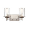 This item: Manhattan Satin Nickel Two-Light LED Bath Vanity
