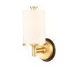 This item: Marlowe Matte Black Satin Gold One-Light Bath Vanity