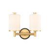 This item: Marlowe Matte Black Satin Gold Two-Light LED Bath Vanity