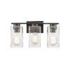 This item: Juneau Matte Black Three-Light Bath Vanity