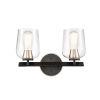 This item: Remy Matte Black Satin Nickel Two-Light Bath Vanity
