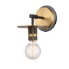 This item: Aurora Black Brushed Brass One-Light Wall Sconce