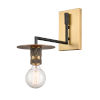 This item: Aurora Black Brushed Brass 10-Inch One-Light Wall Sconce