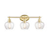 This item: Amina Satin Brass Three-Light LED Bath Vanity