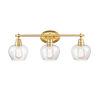 This item: Amina Satin Gold Three-Light Bath Vanity