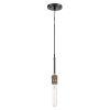 This item: Ellis Matte Black Antique Brass LED Mini Pendant