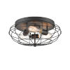 This item: Austere Matte Black Three-Light LED Flush Mount