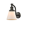 This item: Small Cone Oiled Rubbed Bronze Seven-Inch One-Light Wall Sconce with Matte White Cased Cone Glass