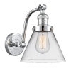 This item: Franklin Restoration Polished Chrome Eight-Inch One-Light Wall Sconce with Clear Large Cone Shade