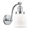This item: Small Bell Polished Chrome 60W One-Light Adjustable Wall Sconce with Matte White Cased Glass