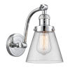 This item: Franklin Restoration Polished Chrome Seven-Inch One-Light Wall Sconce with Clear Small Cone Shade