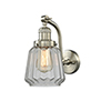 This item: Chatham Brushed Satin Nickel LED Wall Sconce with Clear Fluted Novelty Glass