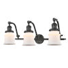This item: Franklin Restoration Oil Rubbed Bronze 12-Inch Three-Light LED Bath Vanity with Matte White Small Canton Shade