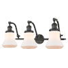 This item: Franklin Restoration Oil Rubbed Bronze 28-Inch Three-Light LED Bath Vanity with Matte White Bellmont Shade