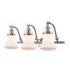 This item: Franklin Restoration Brushed Satin Nickel 28-Inch Three-Light LED Bath Vanity with Matte White Bellmont Shade